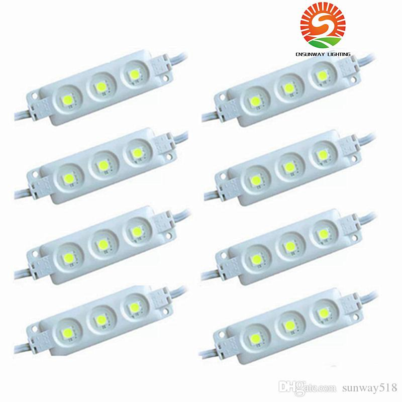 Super Bright Led Modules 6500K Cool White SMD 5630 / SMD 5050 RGB LED Chip Wateproof IP67 R/G/B/Warm White 12V Led Advertising Light