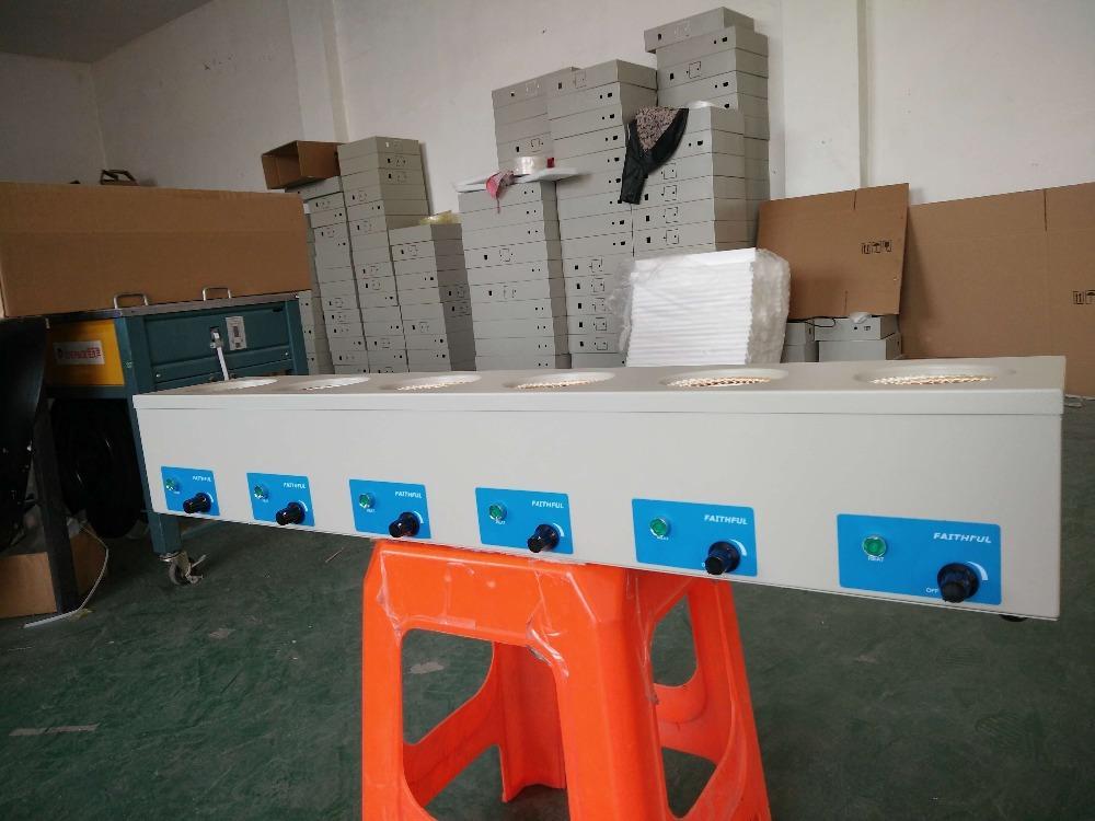 Mantelli di riscaldamento da laboratorio da 250ml Controllo elettronico a sei righe, temperatura massima 450 gradi,! Spedizione gratuita !