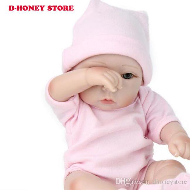 Pinky 12 Inch 28cm Lifelike Reborn Baby Doll Vinyl Silicone Full Body Baby Girl