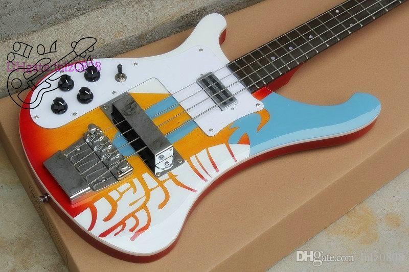plants sell directly NEW Left hand Bass 4003 Bass white Electric bass Guitar Free shipping