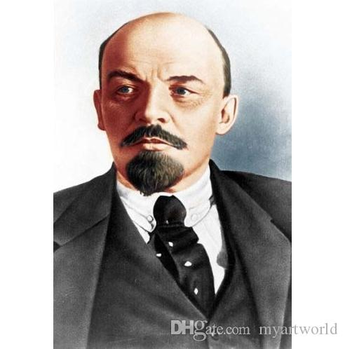Líder SOVIÉTICO LENIN, HD Art Print Retrato Pintura A Óleo Sobre Tela de Lona de Alta Qualidade, tamanho Multi tiann