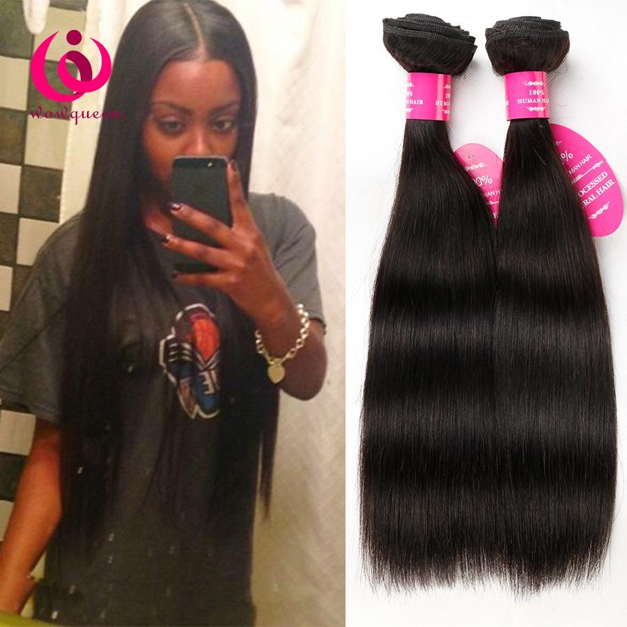 Cheap Wholesale Price Malaysian Straight Hair Weave Bundles 4pcs/lot Wow Queen Hair No Shedding No Tangle Malaysian Virgin Human Hair Weft
