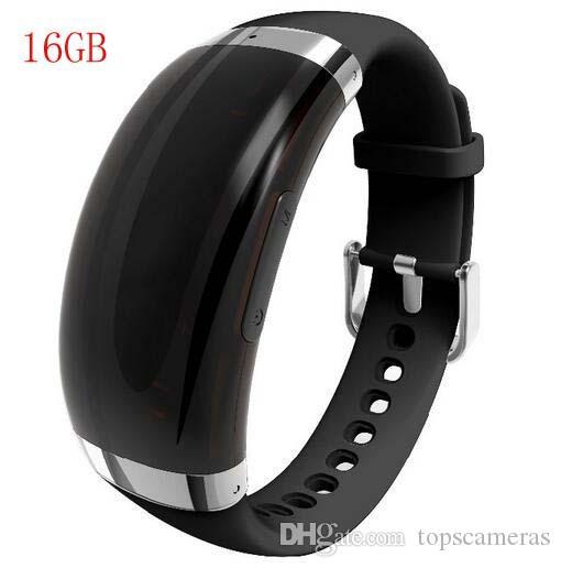 2019 16GB جديد الاسورة مسجل صوت VOS تحكم الصوت سوار قابل للتعديل ومسجل صوت MP3 دعم 24 لغة WR-18A