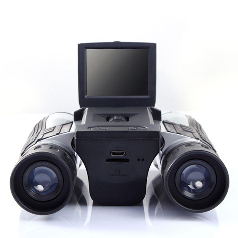 Professionnel 12x32 HD Binoculaire Télescope appareil photo numérique 5 MP appareil photo numérique 2.0 '' TFT affichage Full HD 1080 p télescope caméra