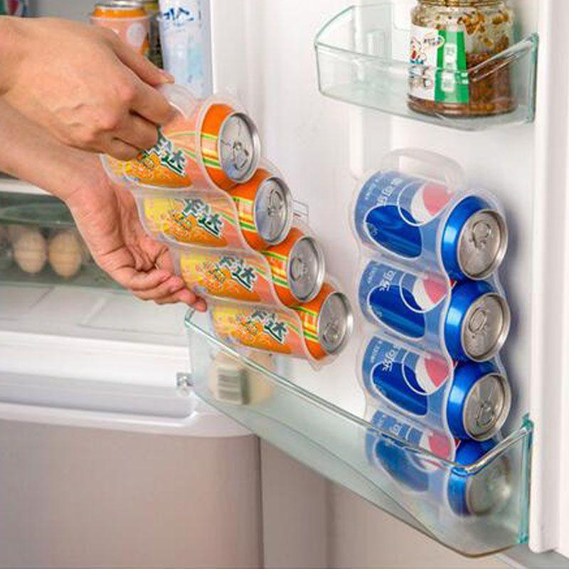 Новый холодильник ящик для хранения Кухонные аксессуары напиток Кока-кола напиток может компактный банки отделка четыре случае Организатор