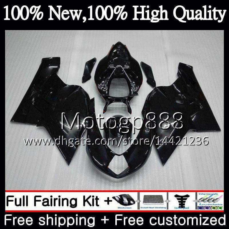 Body For MV Agusta F4 05 06 R312 750S 1000 R 750 1000CC 13PG17 1000R 312 1078 1+1 MA Glossy black MV F4 2005 2006 05 06 Fairing Bodywork