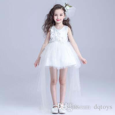 긴 꼬리 정식 무도회 웨딩 공은 소녀의 생일 투투 스커트 특별한 경우 아이 드레스 꽃 소녀 드레스 공주님 드레스