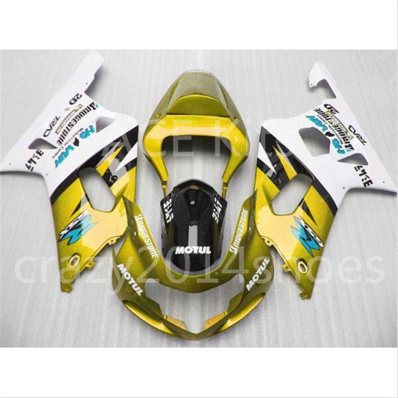 Tail Fairing Rear Cowl Fit For SUZUKI 2001-2003 GSXR600 GSXR750 K1 Yellow Black