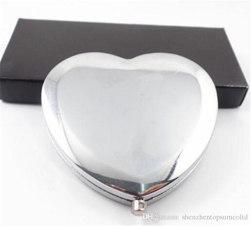 Personalizzato regalo di nozze e favore per gli ospiti con borsa borsa Personalizzato Cuore Make Up Mirror Baby nuziale Favore Party Boda