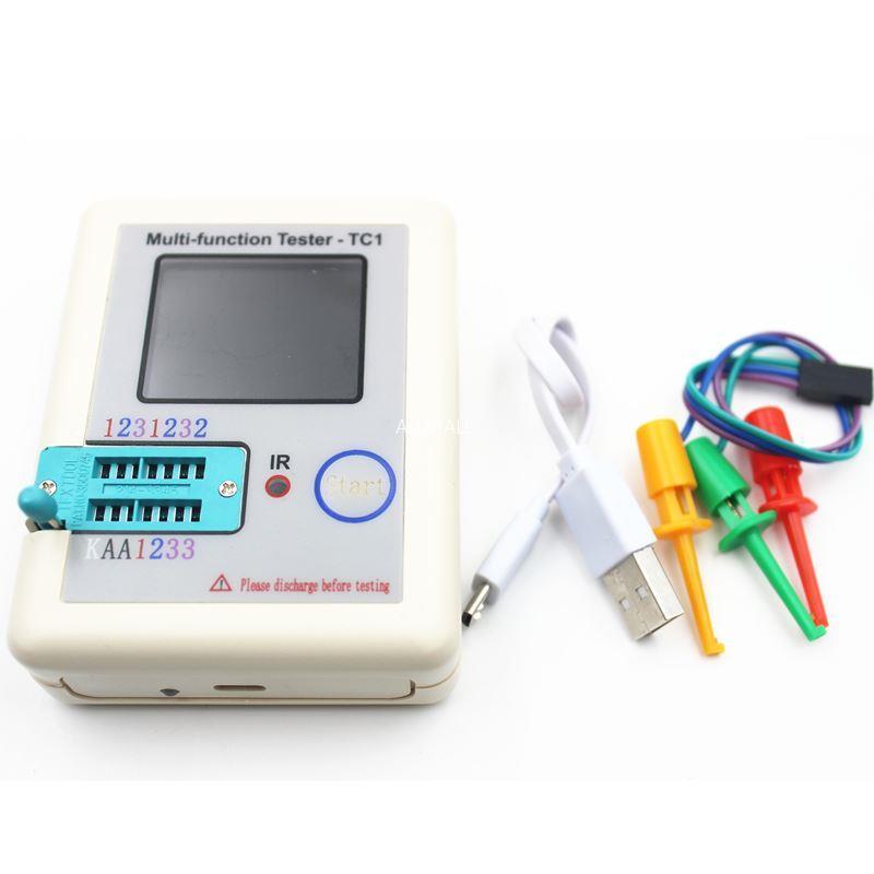 Freeshipping Transistor Tester TFT Diode Triode Capacitance Meter LCR ESR meter NPN PNP MOSFET IR Multifunction tester multimeter