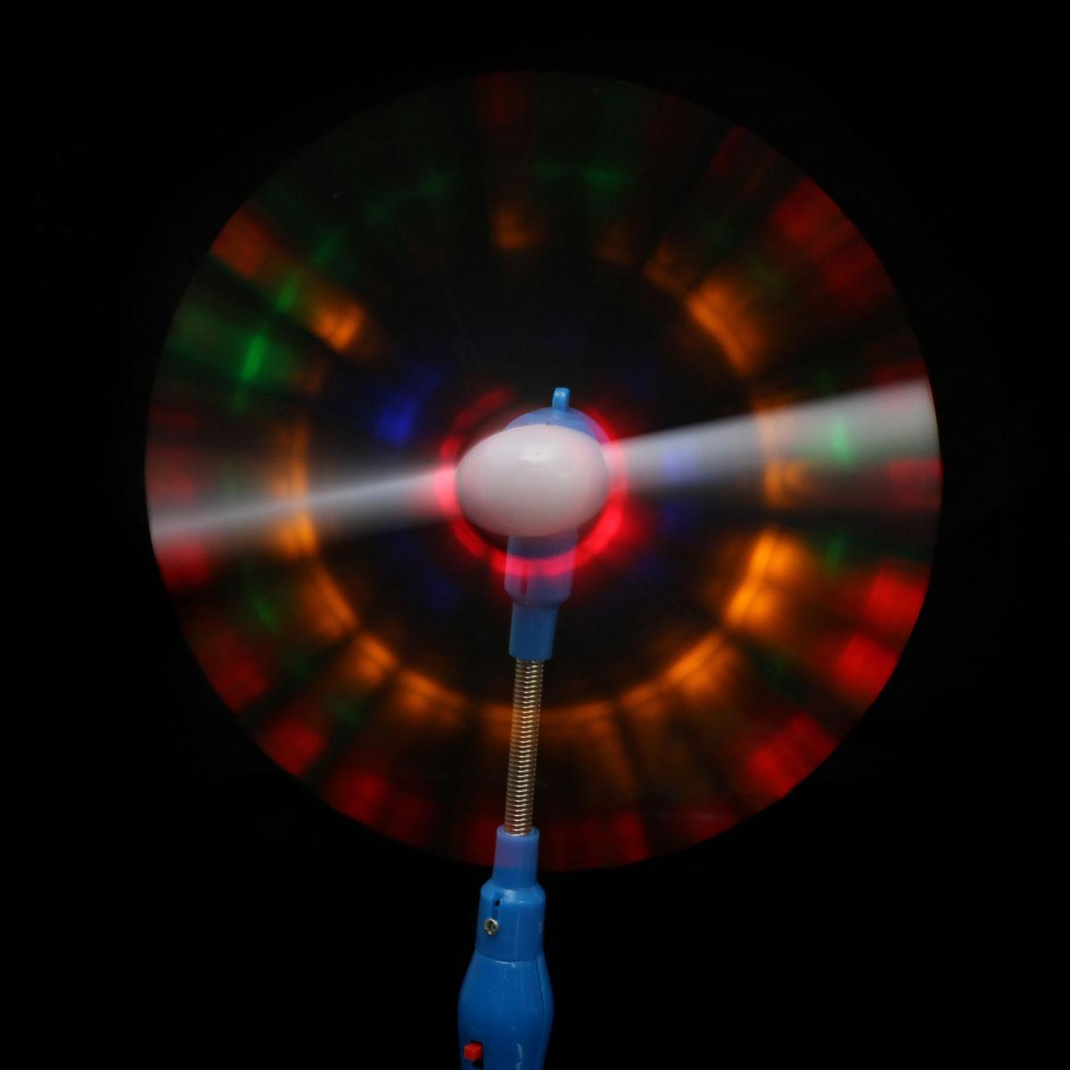 2 X Flashing light up led spinning windmill toy glows kids present gift party