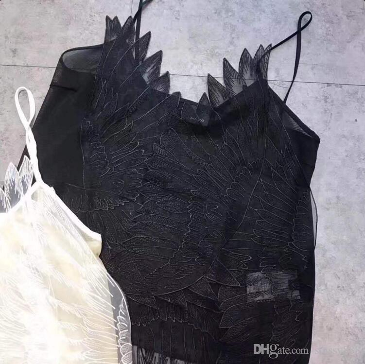 separation shoes 646f6 36810 2019 High Quality Women Pinko Tshirt Angel Feather Wing Sun Top Suspender  Dress Sexy Lace Top Frock From Stussy888, $22.3 | DHgate.Com