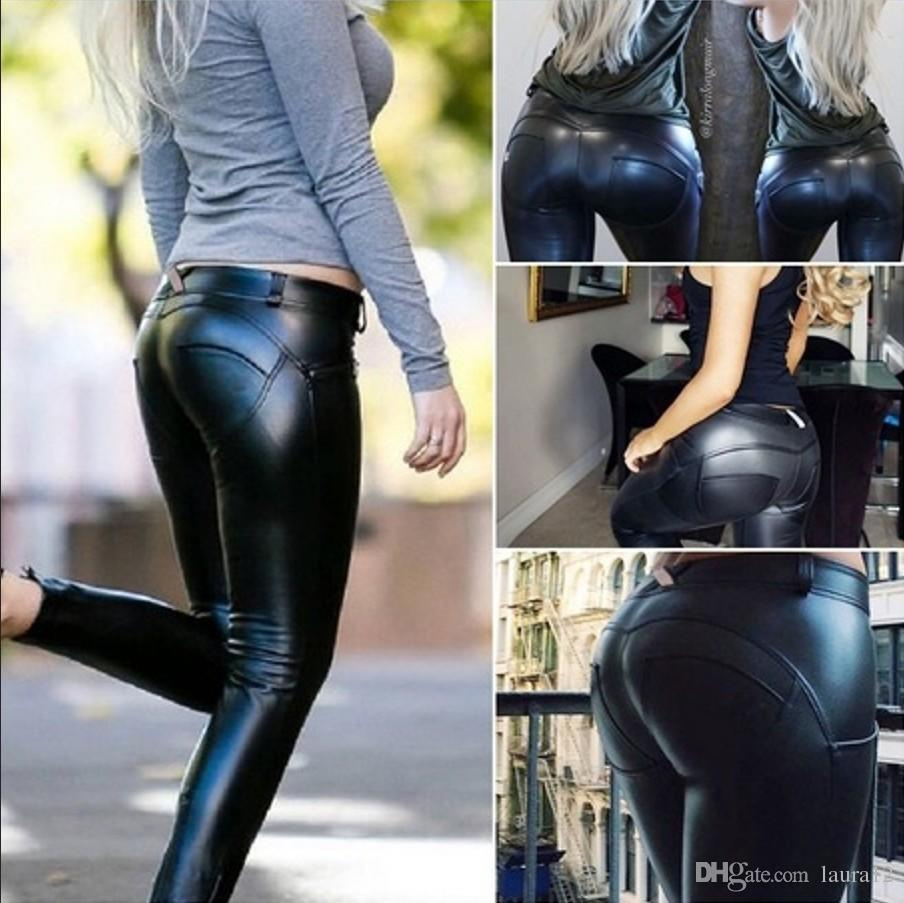 look good shoes sale great discount exceptional range of styles 2019 Fashion Hot Sale Slim Women Biker Skinny Leather Pants Trousers  Leggings Black PU Lady Pants S XL From Laura12, $10.06 | DHgate.Com