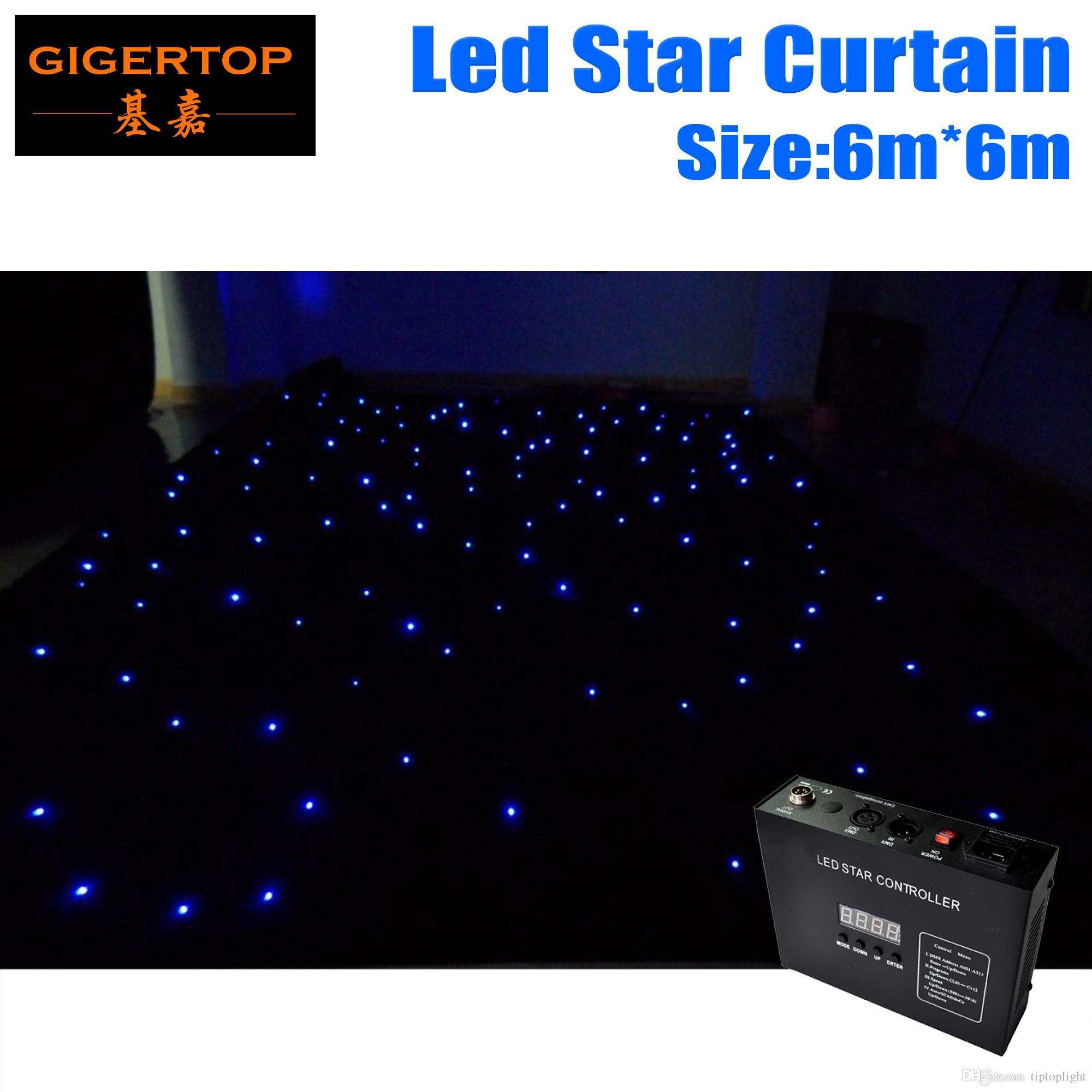 Hoge kwaliteit 6m * 6 m brandwerende LED-ster doek LED vision doek led gordijn doek achtergrond Stadium licht, 90V-240v 45 graden kijkhoek