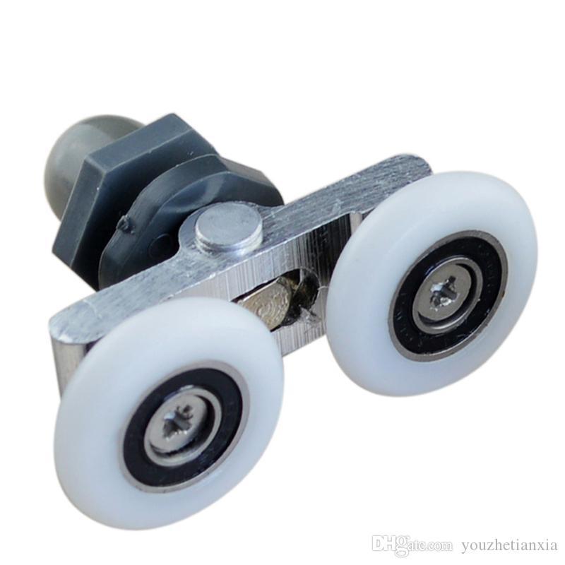 Salıncak çift tekerlek duş odası kasnak cam sürgülü kapı makarası asılı tekerlek ev donanım parçası mobilya