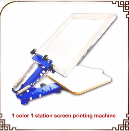 1 SCHERMO A COLORI PREMERE la macchina da serigrafia desktop manuale per serigrafia a singolo colore