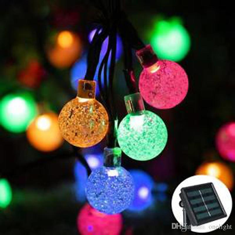 reputable site 548dd 97a24 30 LEDS Bubble Beads Lights Party Xmas LED Strings Light Lamp Solar Led  Christmas Lights Solar String Bulbs Waterproof 6M Led Fairy String Lights  ...