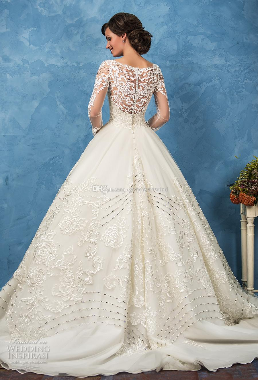 Long Sleeve Vintage Wedding Dresses 2017 Amelia Sposa Bridal ...