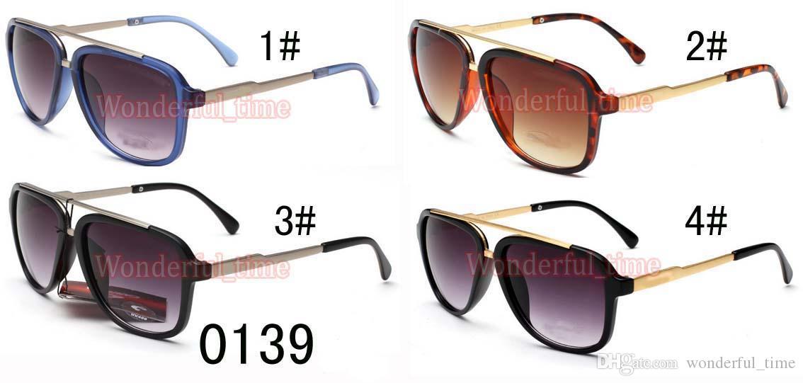 여름 새로운 뜨거운 남자 금속 안경 패션 스포츠 개구리 선글라스 스포츠 야외 스포츠 큰 프레임 어두운 안경 4 색 무료 배송