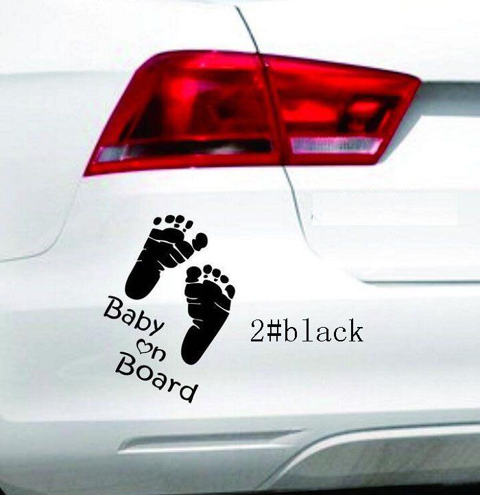 14 * 10 cm Yansıtıcı Araba Çıkartmaları bebek Çıkartması kapak / vücut için anti çizik Işık kaş ön arka kapı tampon pencere dikiz aynası