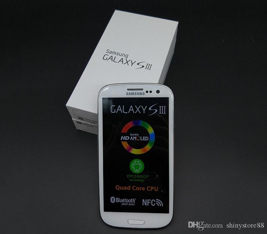 الأصلي سامسونج غالاكسي S3 I9300 رباعية النواة RAM 1GB ROM 16GB 4.8 بوصة 8MP GSM 3G مقفلة الهاتف الخليوي