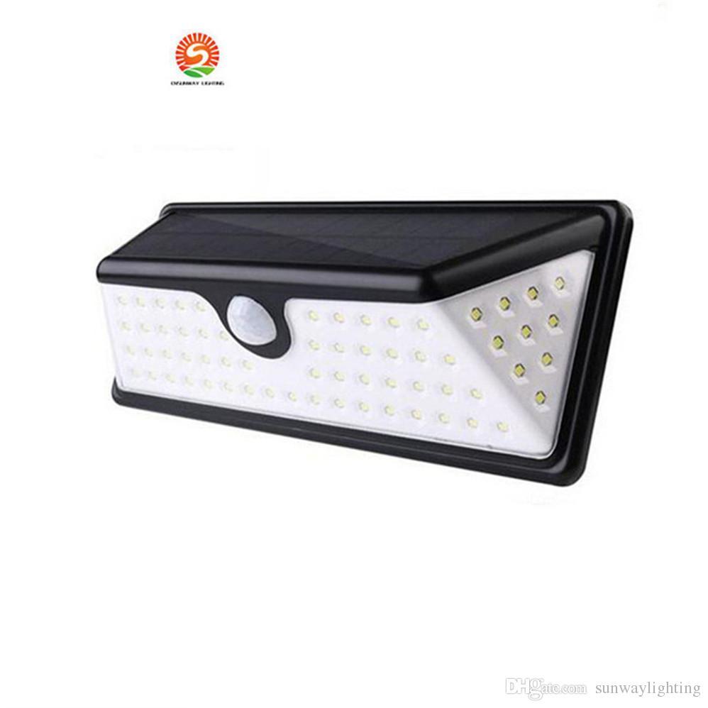 73 LED LED PIR Solaire Lumières 730LM Extérieure Imperméable À L'eau Capteur De Mouvement Lampe Solaire LED Patio Lumières Mur Lampe De Sécurité Jardin Lumière