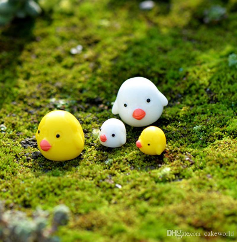 20pcs mini pulcino bonsai figurine fairy garden miniature per terrari ornamento casa delle bambole mestiere di resina decorazione bottiglia ecologica