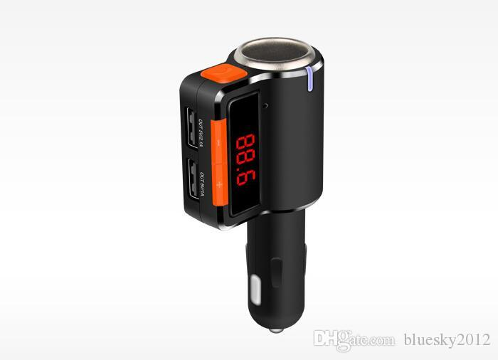 2017 Car MP3 Audio Player Bluetooth FM Transmitter Wireless FM Modulator Car Kit car usb player double USB Charger BC09