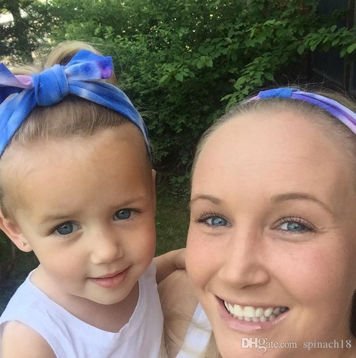 1 Stück Kleines Mädchen Säugling Blumenschleife Haarband Knoten Turban Kaninchen