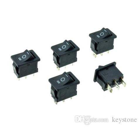 Snap-in noir 6A 250VAC / 10A 125VAC 3 broches ON-OFF-ON 3-positions SPDT 19x13mm Switch Rocker Boat Switch