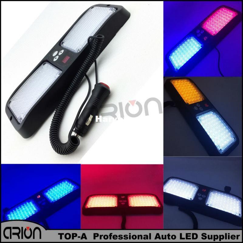 86 LED Super Bright Car Truck Emergency Visor Strobe Flash Light Panel 86LED 2x43 LED 6 Optional Colors Red Blue Amber White
