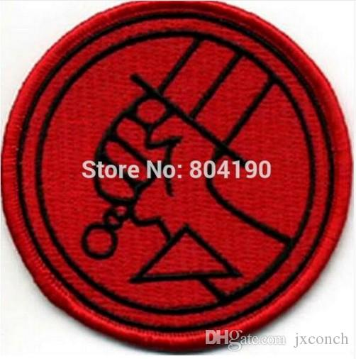 """3 """"Hellboy Kırmızı Logosu TV FILM FILM Serisi Üniforma Kostüm İşlemeli Demir On Patch Goth Punk"""