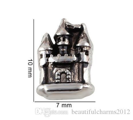 20 PCS / lot Européenne Maison Du Château DIY Alliage Flottant Médaillon Charmes Fit Pour Verre Vivant Magnétique Mémoire Médaillon De Mode Bijoux