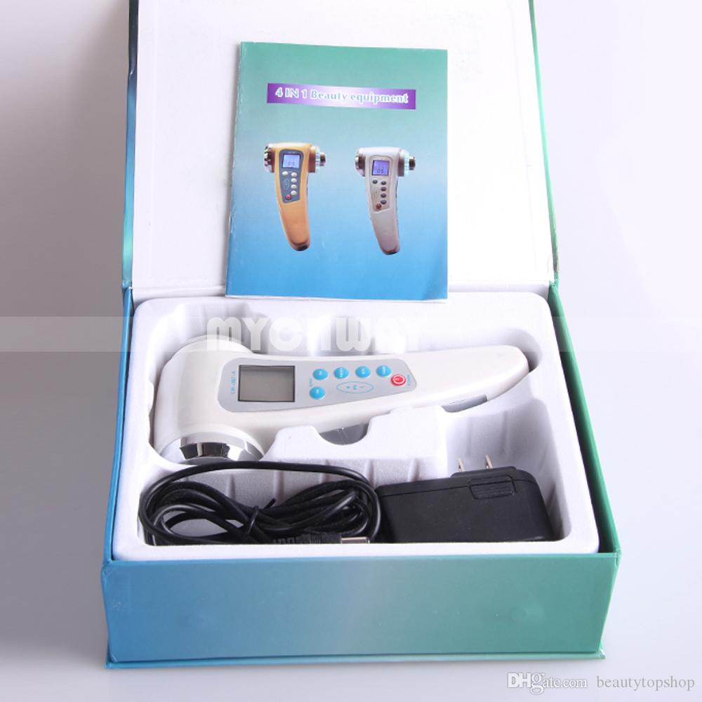 2017 Portable 4in1 LED Photon Therapy + Ion Rejuvenation + 1MHZ & 3MHZ Ultrasonic Ultrasound Anti-Aging Wrinkle Removal Beauty Machine