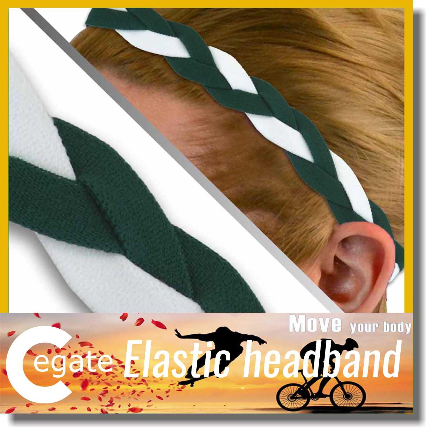 Wholesale 100 pieces lot Headbands Triple Braided Sports Headband with Non slip grip for Softball