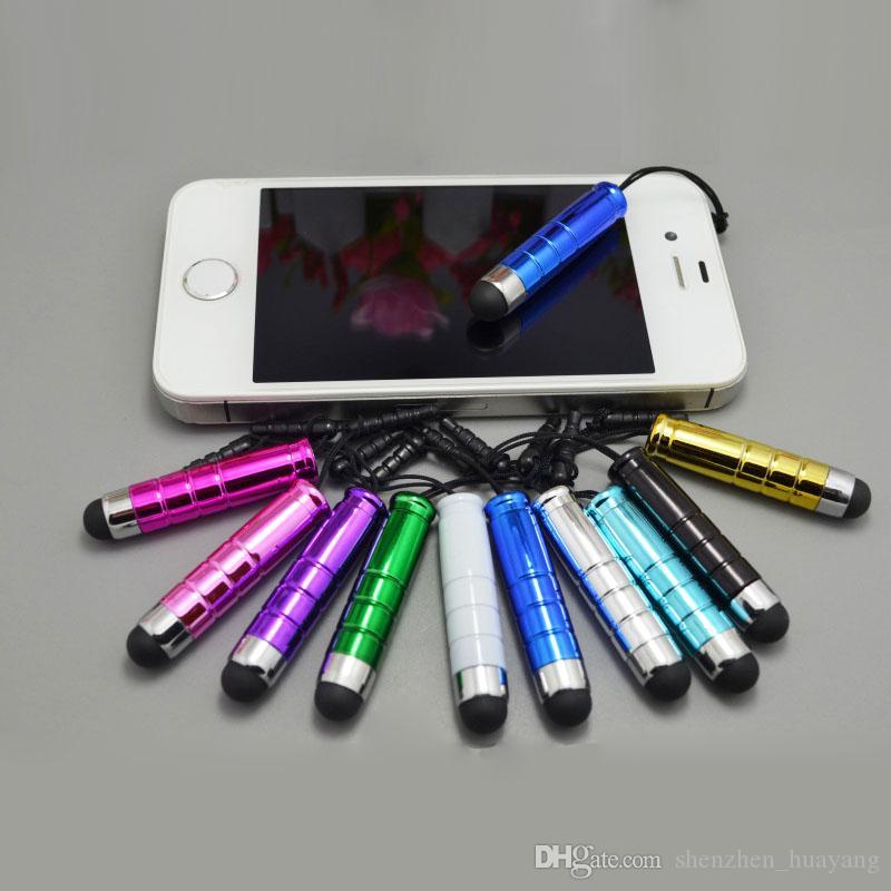 4000pcs / lot Nuovo arrivo moda Mini capacitiva di tocco dello stilo per lo smartphone universale libero di DHL / Fedex