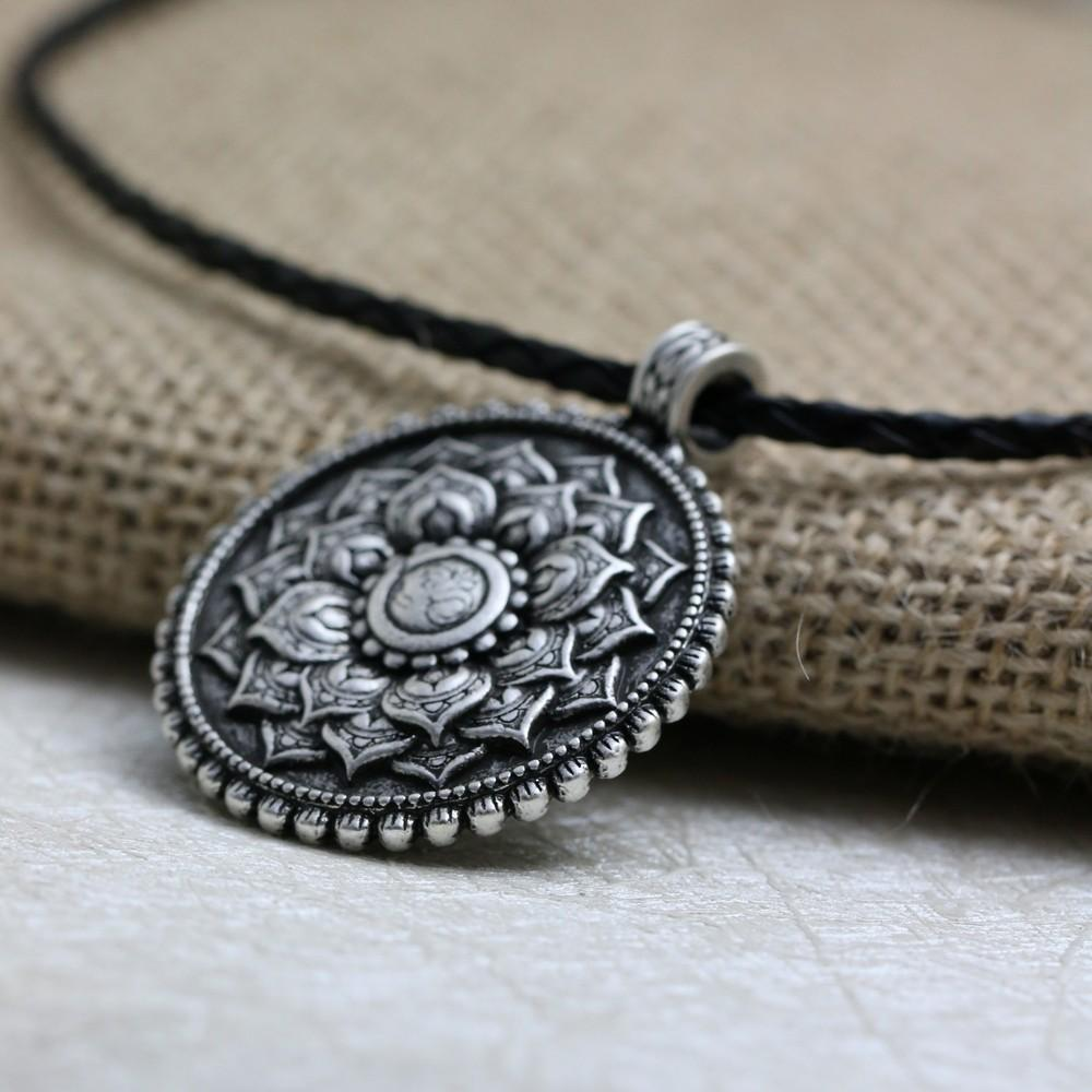 sales claude necklace large buddha spiritual pendant of touch jean jewelry