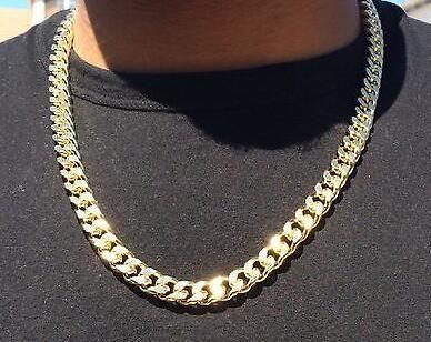 """14K позолоченный хип-хоп Cuban Link Change с алмазными порезами 24 """""""