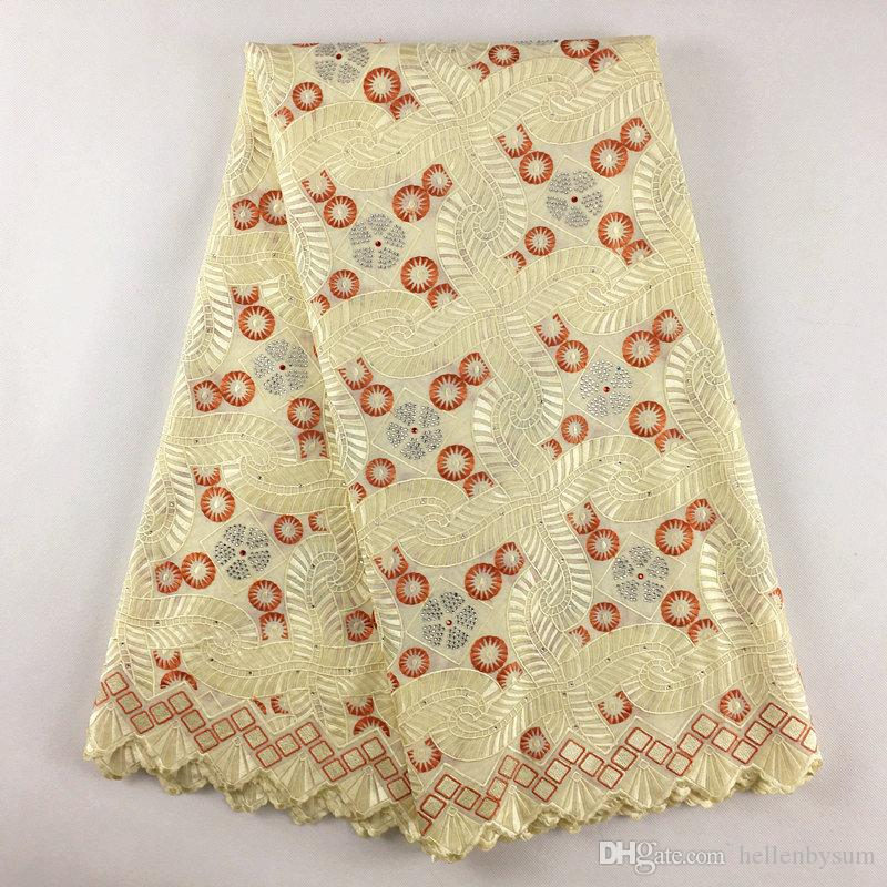 High Quality African Swiss Voile Lace 895, Free Shipping(5 yards/pack), 100%cotton African Wedding Party Voile Lace Clothes