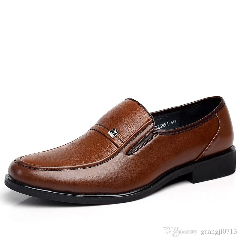 2017 new style men's dress sformal suit shoes British low daily leisure men's leather shoes
