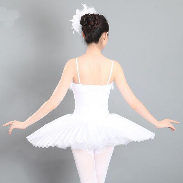 aed88c512 2019 Womens  Traditional White Sleeveless Ballet Dance Wear Tutu ...