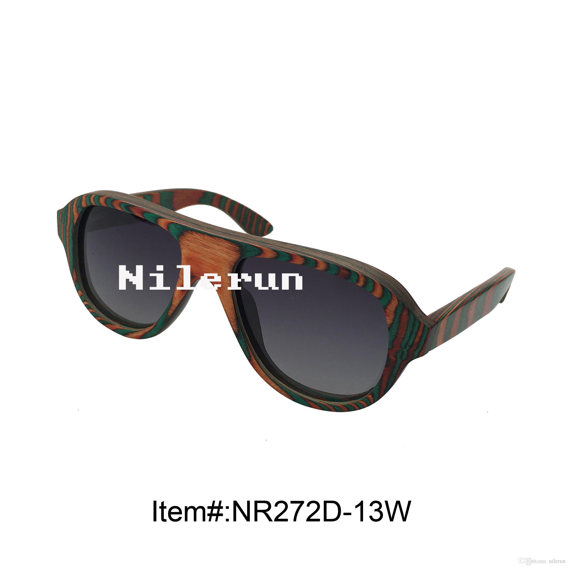 occhiali da sole in legno multi colore creativo