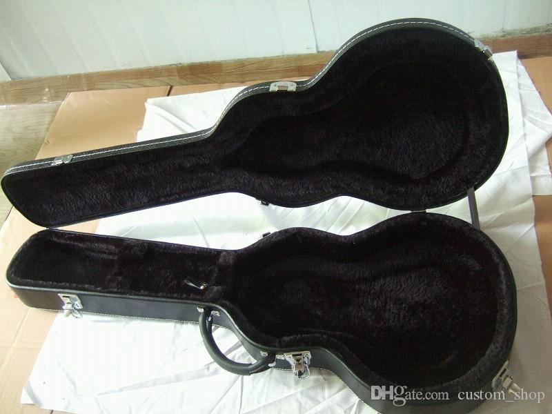 Noir Marron en cuir blanc / jaune en nylon LP Tele ST MUSIC MAN Guitare électrique Adapté Hardcase Hard Shell Case multigestion alternative intérieure