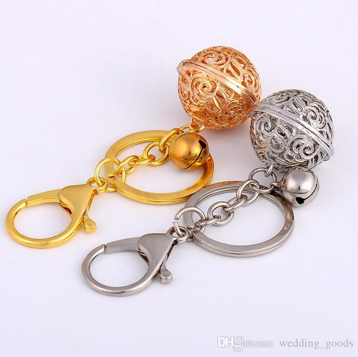 Best gift Bells key chain hollow bells ring key chain ornaments ornaments pendant KR196 Keychains mix order 20 pieces a lot