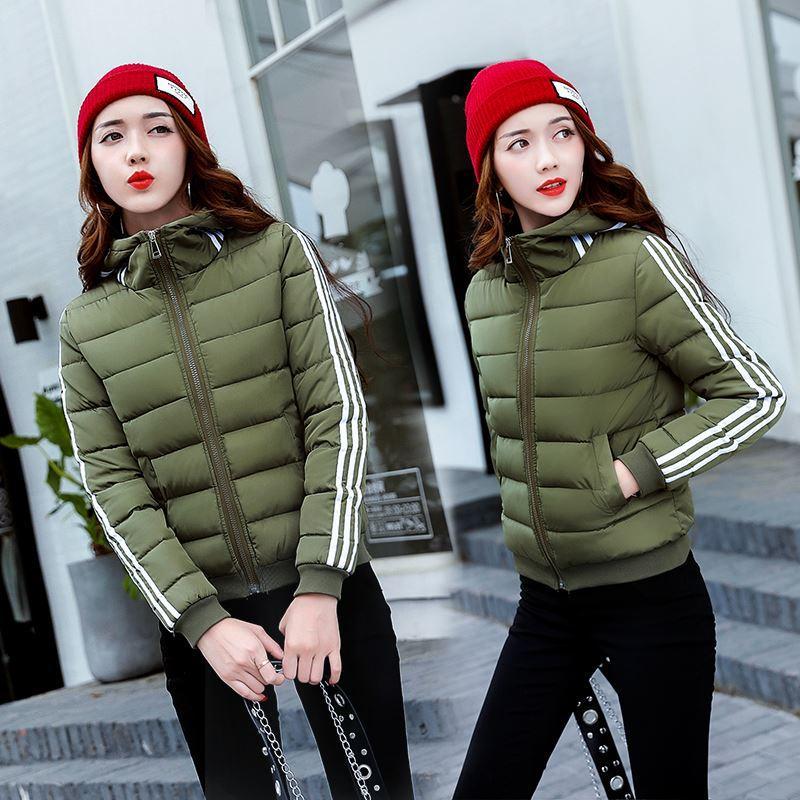 2017 الخريف والشتاء النساء معطف قصير عارضة ضئيلة سميكة ستر الشتاء سترة الإناث زائد حجم s-3xl
