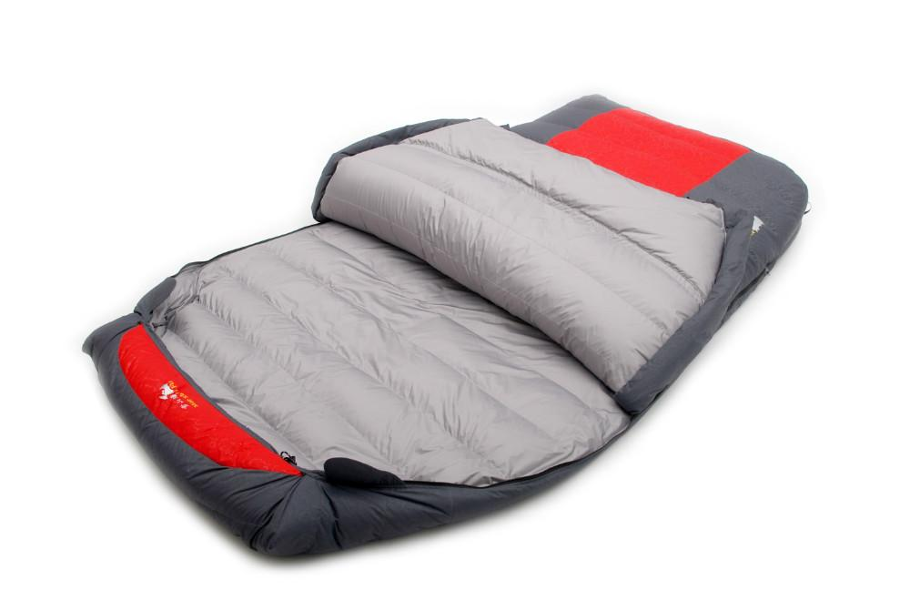 Al por mayor- Pato abajo relleno ultra grande para dos personas 1200g / 1500g / 1800g / 2000g / 2200g cómodo saco de dormir para acampar