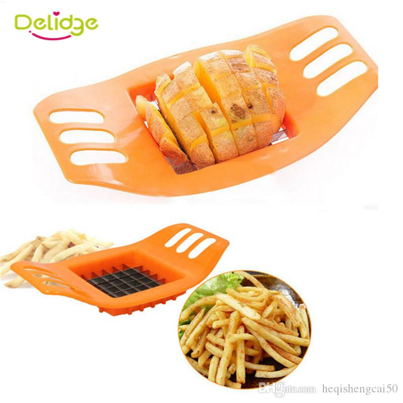 Delidge 20 pc Potato Cutter Stainless Steel Vegetable Potato Slicer Cutter Potato Cutting Device Square Slicers Cut Fries Device