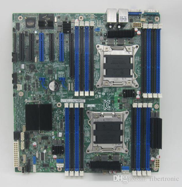 Dual Channel Server Motherboard S2600CP2 X79 LGA 2011 Pins C602 DBS2600CP2 Mainboard 6x PCIe 3.0 support e5-2600 cpu