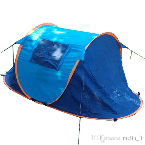 Automatic Pop Up Tent 2 Persons Waterproof Camping Tent Instant Beach Shade Tents Portable Pop Up Beach Tent