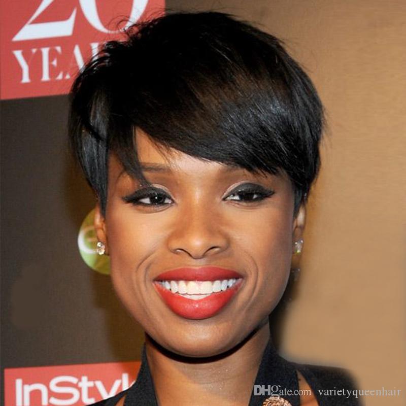 billige brasilianische Menschenhaarperücken keine guleless Spitzeperücken sehr kurze Menschenhaarperücken für schwarze Frauen